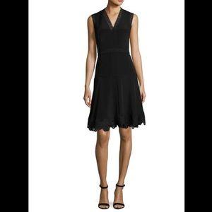 Adena Sleeveless Lace-Trim A-Line Dress, size 10